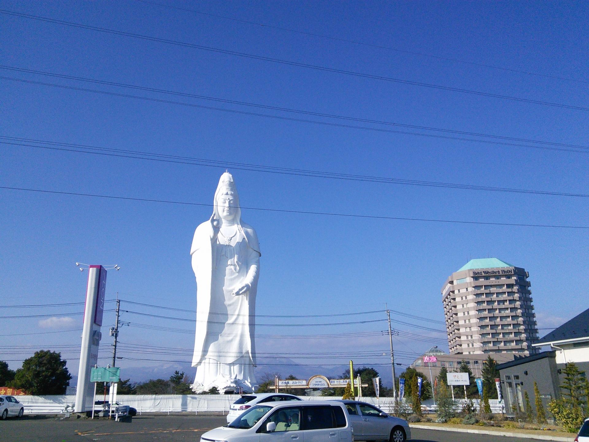 仙台大観音の度肝を抜く異世界的な存在感へのアクセスや御朱印・隣接ホテルについて