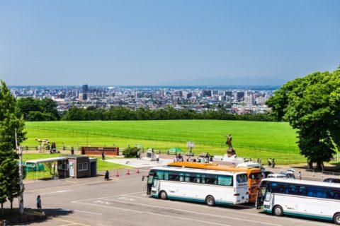 北海道 ・札幌・羊ヶ丘展望台のバス