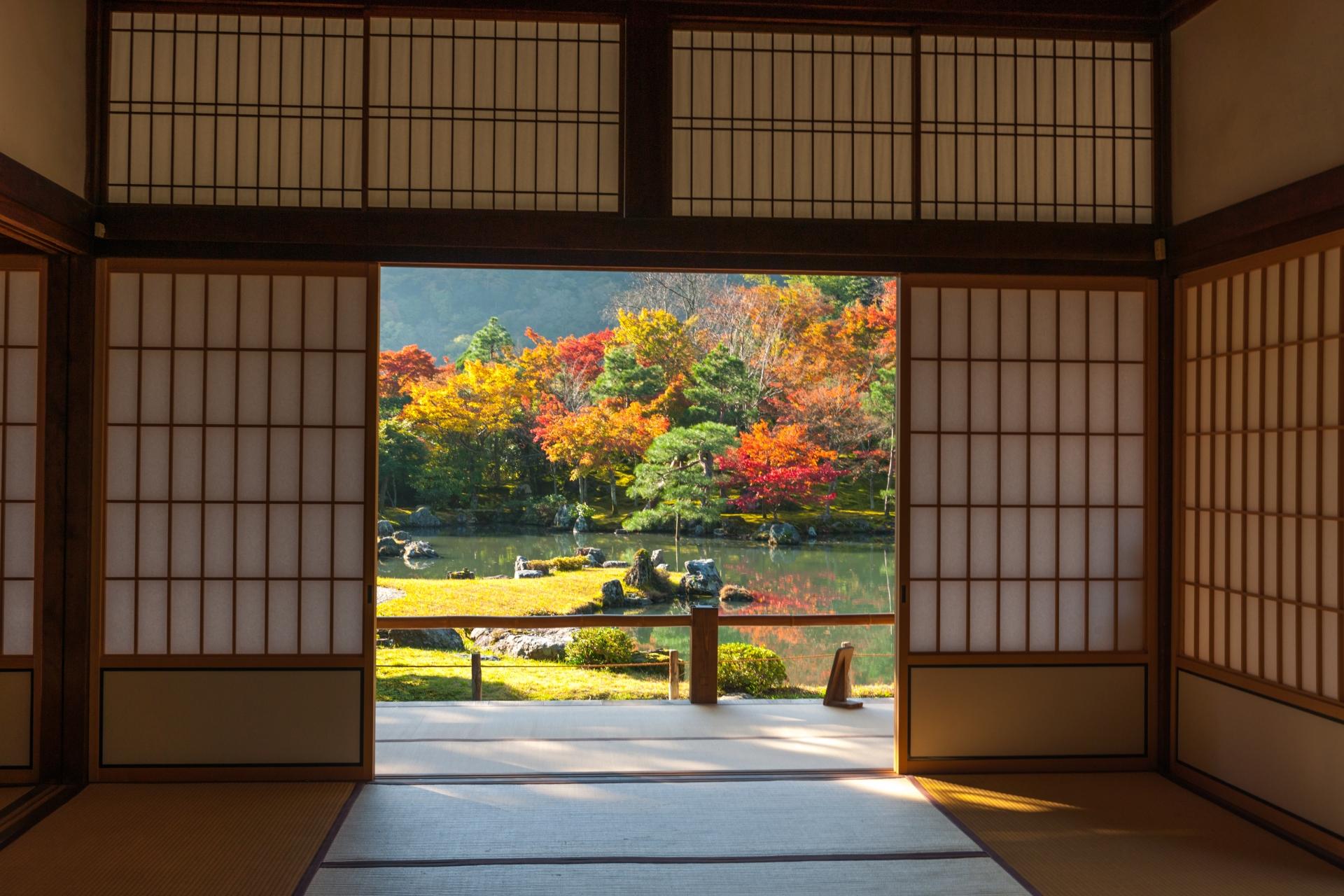【世界遺産】天竜寺の桜・紅葉・庭園・雲龍図などの見どころや楽しみ方